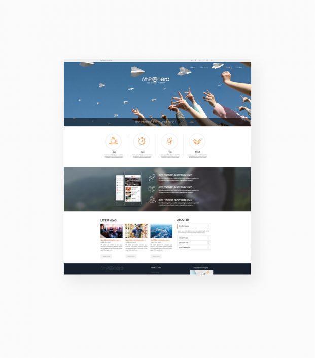 طراحیUI وبسایت شرکت لیتوانیایی سیاره ششم