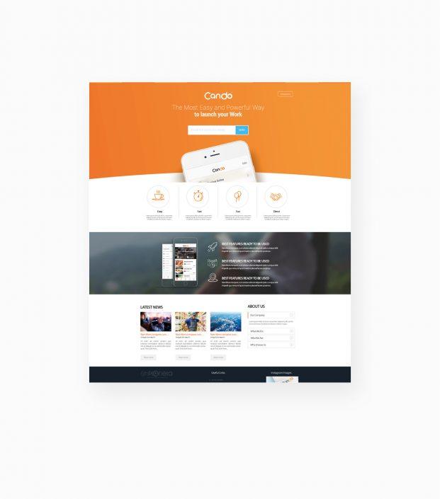 طراحی UI وبسایت اپلیکیشن کندو