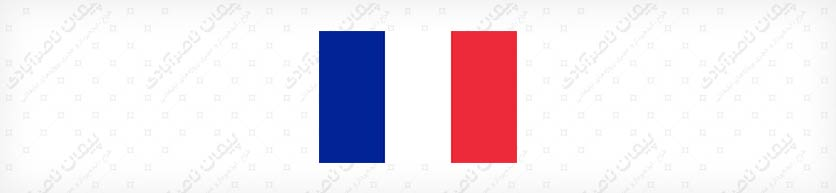 اندازه های متفاوت رنگ ها در پرچم کشور فرانسه