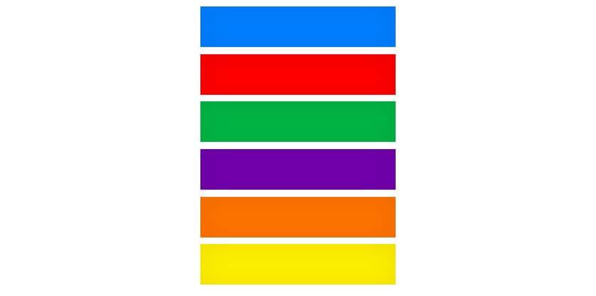 میزان محبوبت رنگ ها در جهان(از بالا به پایین)