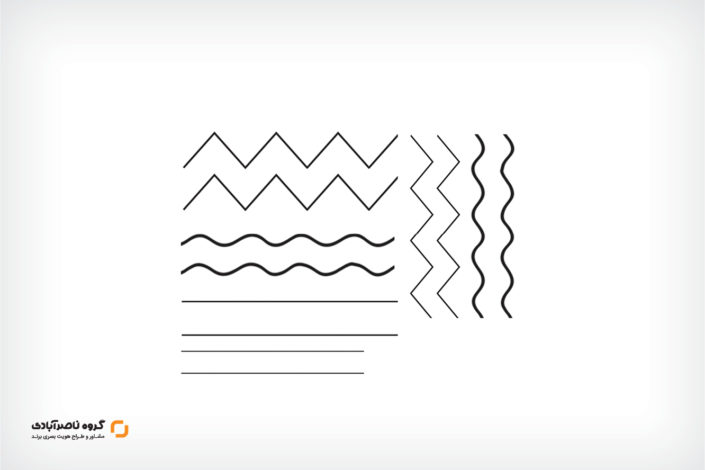 خط ها در طراحی لوگو