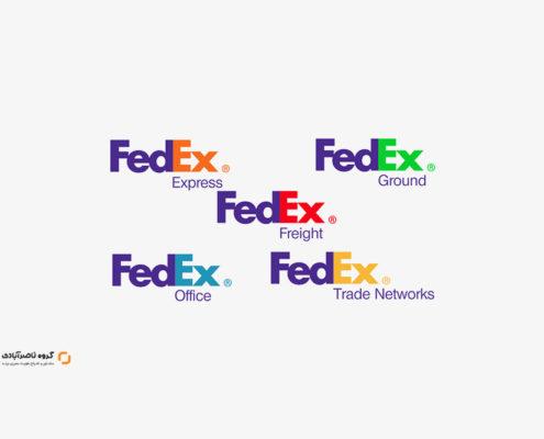 رنگارنگ کردن طراحی لوگو و زنجیره های نام تجاری