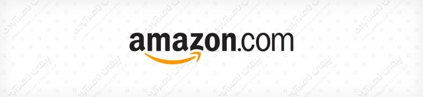 رنگ نارنجی - طراحی لوگو تایپ شرکت آمازون