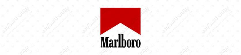 رنگ قرمز - طراحی لوگوی سیگار مارلبورو