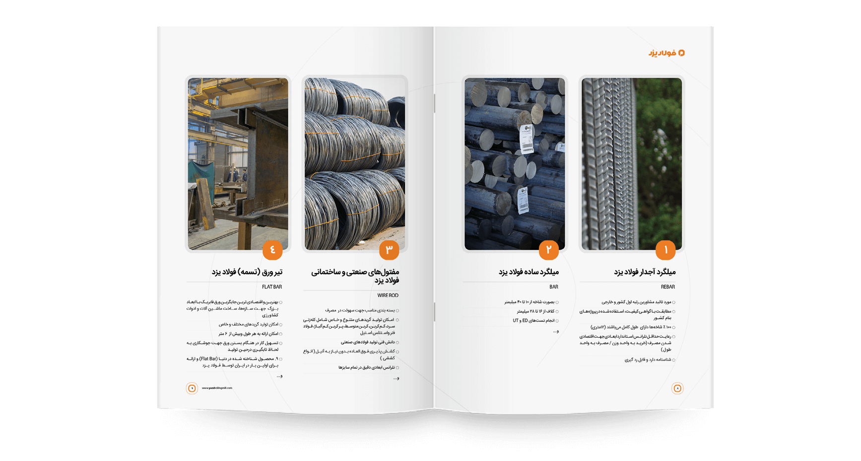 کاتالوگ فولاد یزد