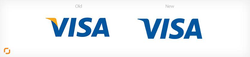 تغییر درست رنگ طراحی لوگو ویزا کارد