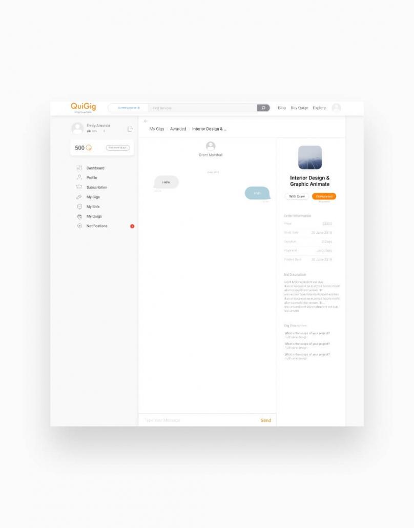 طراحی وب سایت quigig