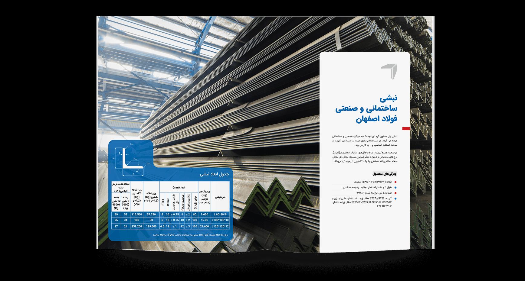 کاتالوگ فولاد اصفهان