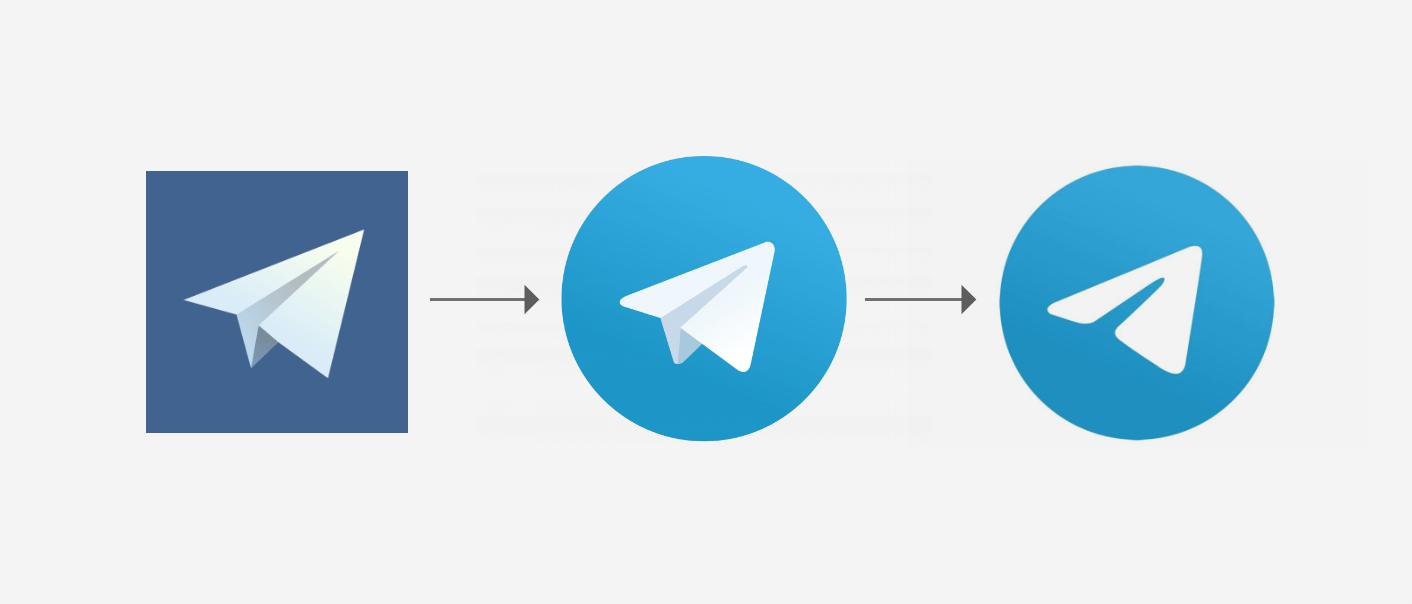 سیر تکامل لوگو تلگرام