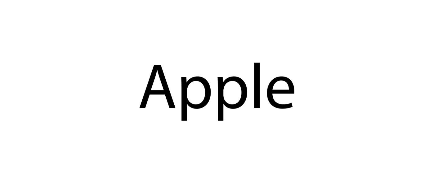 لوگوتایپ اپل