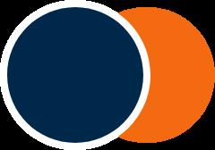 رنگ پراشن بلو و نارنجی